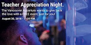 Teacher Appreciation Night at the Vancouver Aquarium