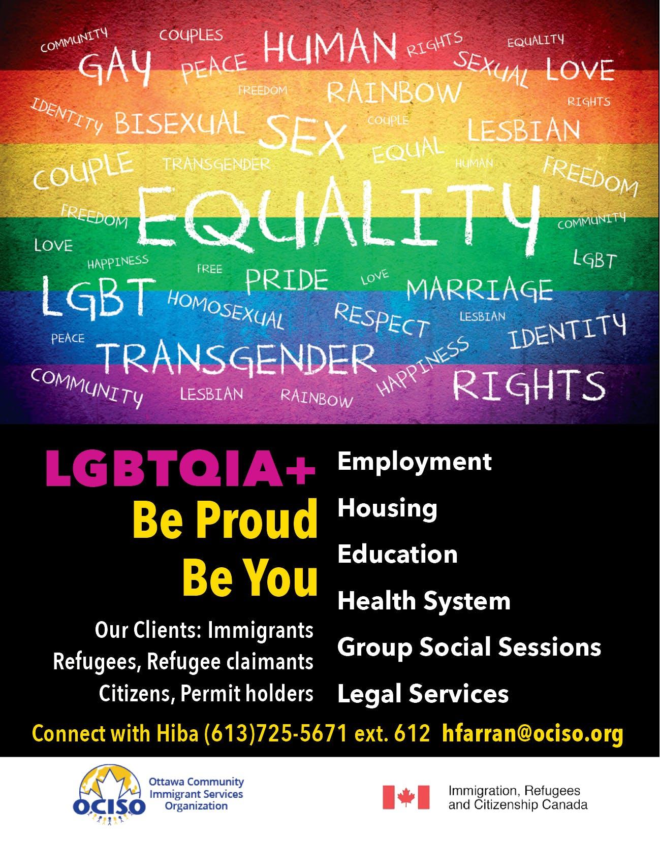 OCISO: Sharing LGBTQ Newcomer Experiences