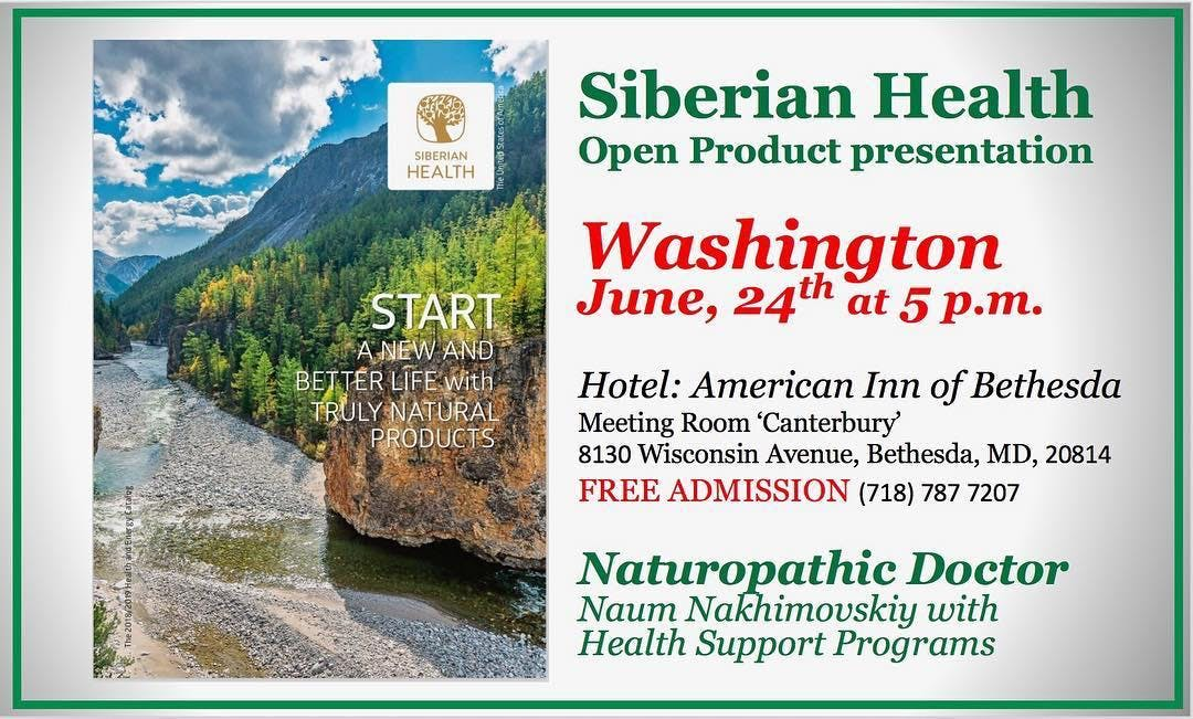 Siberian Health Open Product Presentation