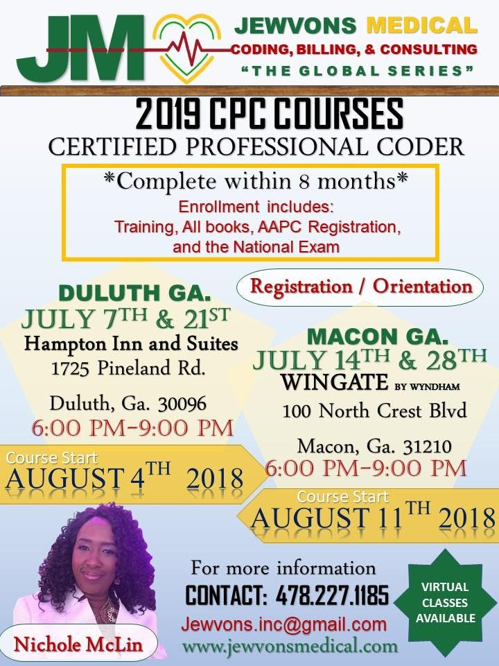 Certified Professional Coder Registration/Class - 21 JUL 2018
