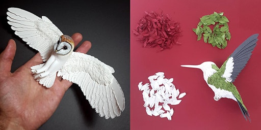 Paper bird making with Zack Mclaughlin of Paper & Wood