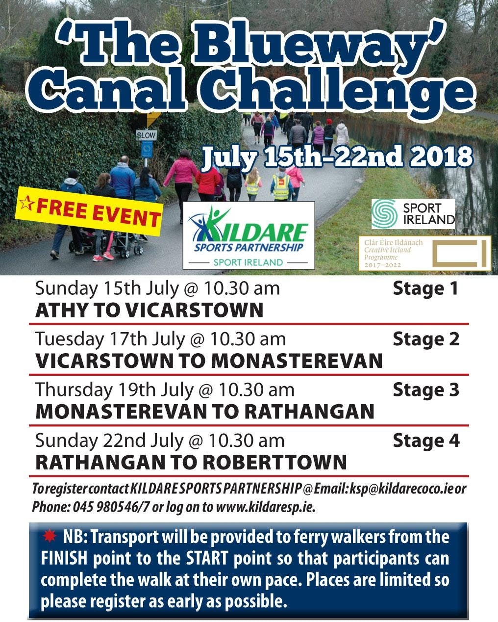 KSP 'Blueway Canal Challenge' - Stage 2 - Vicarstown to Monasterevan