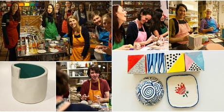 Make Your Own Handmade Pottery - Slab and Coil - Bowls, Plates and Pots! 2 Part Session tickets