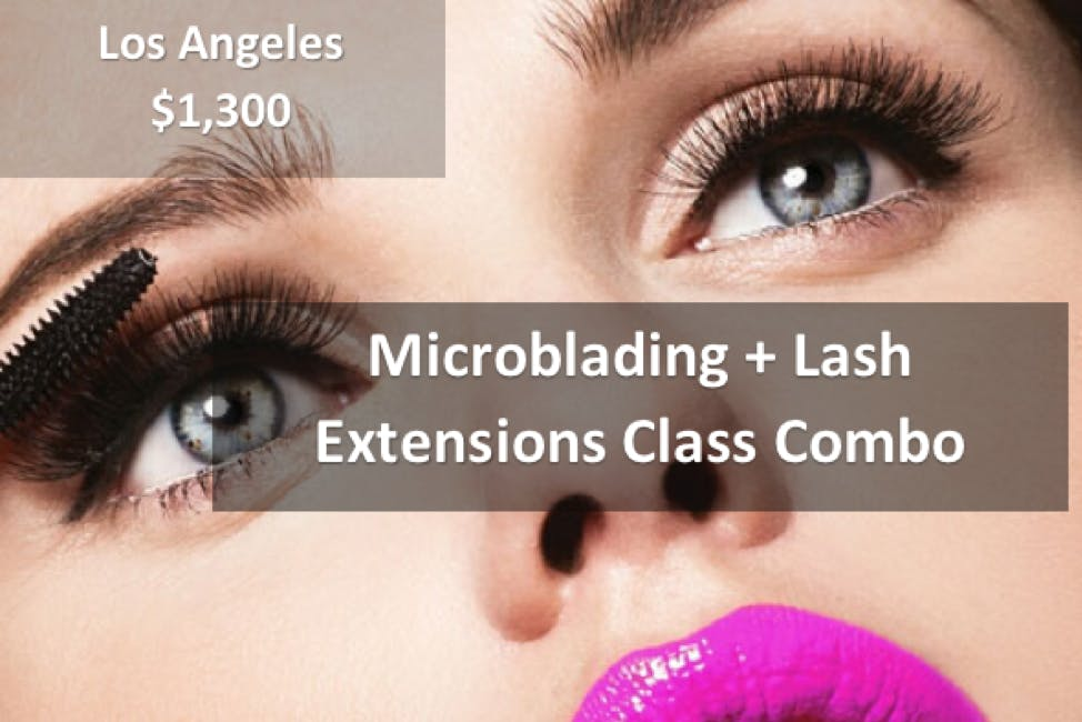 Microblading Lash Extensions Combo Class Los Angeles 7 Jul 2018