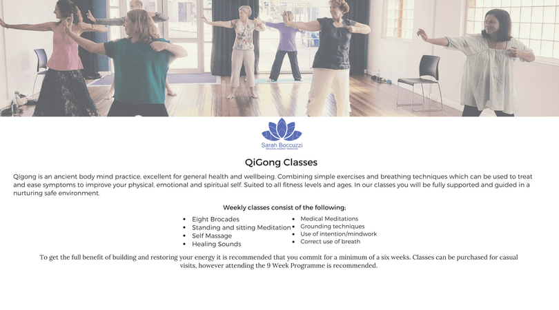 Qigong Term 3 Classes - 10 weeks Wed, 18th July 2018 - 8 AUG