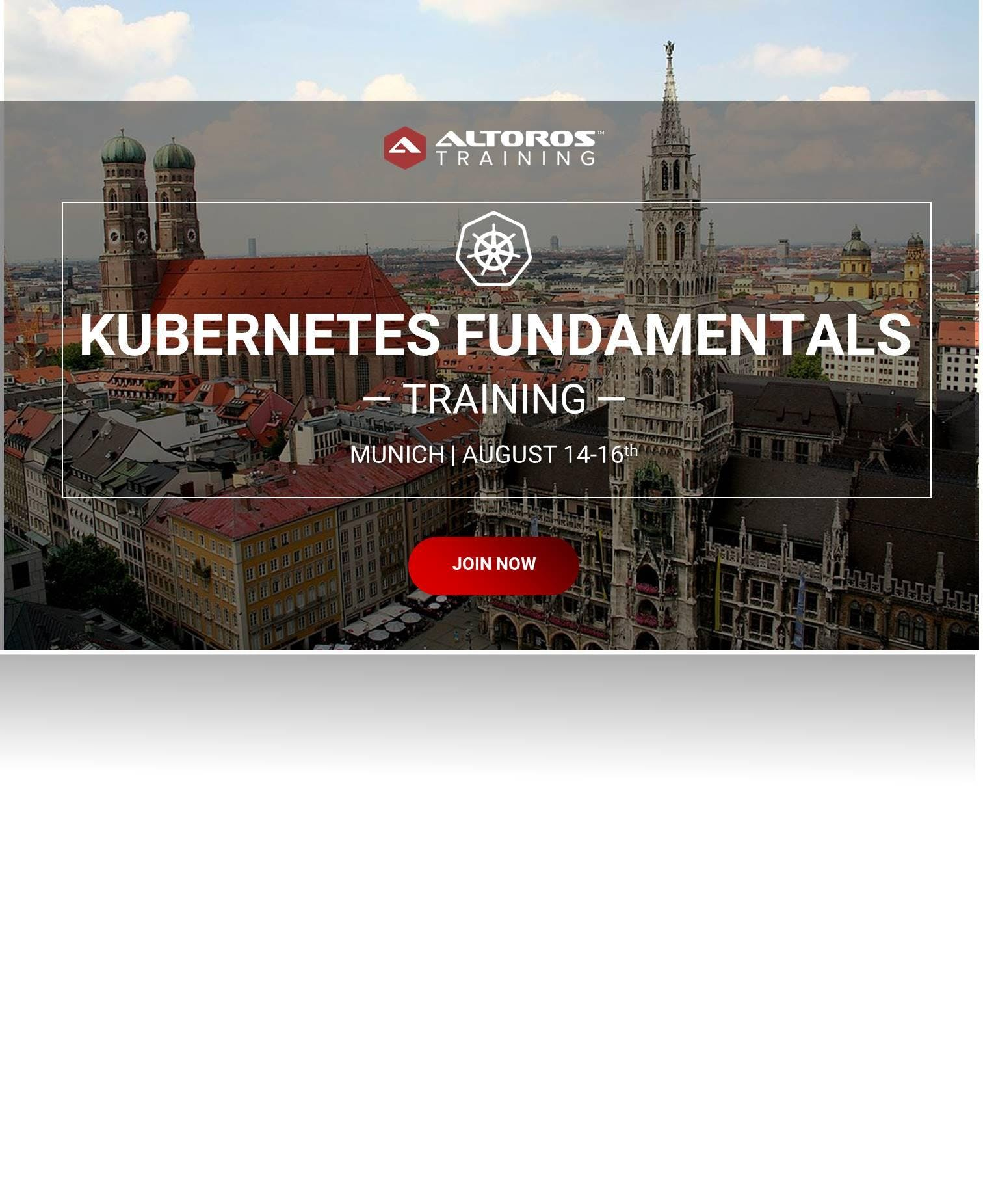 [TRAINING] Kubernetes Fundamentals: Munich