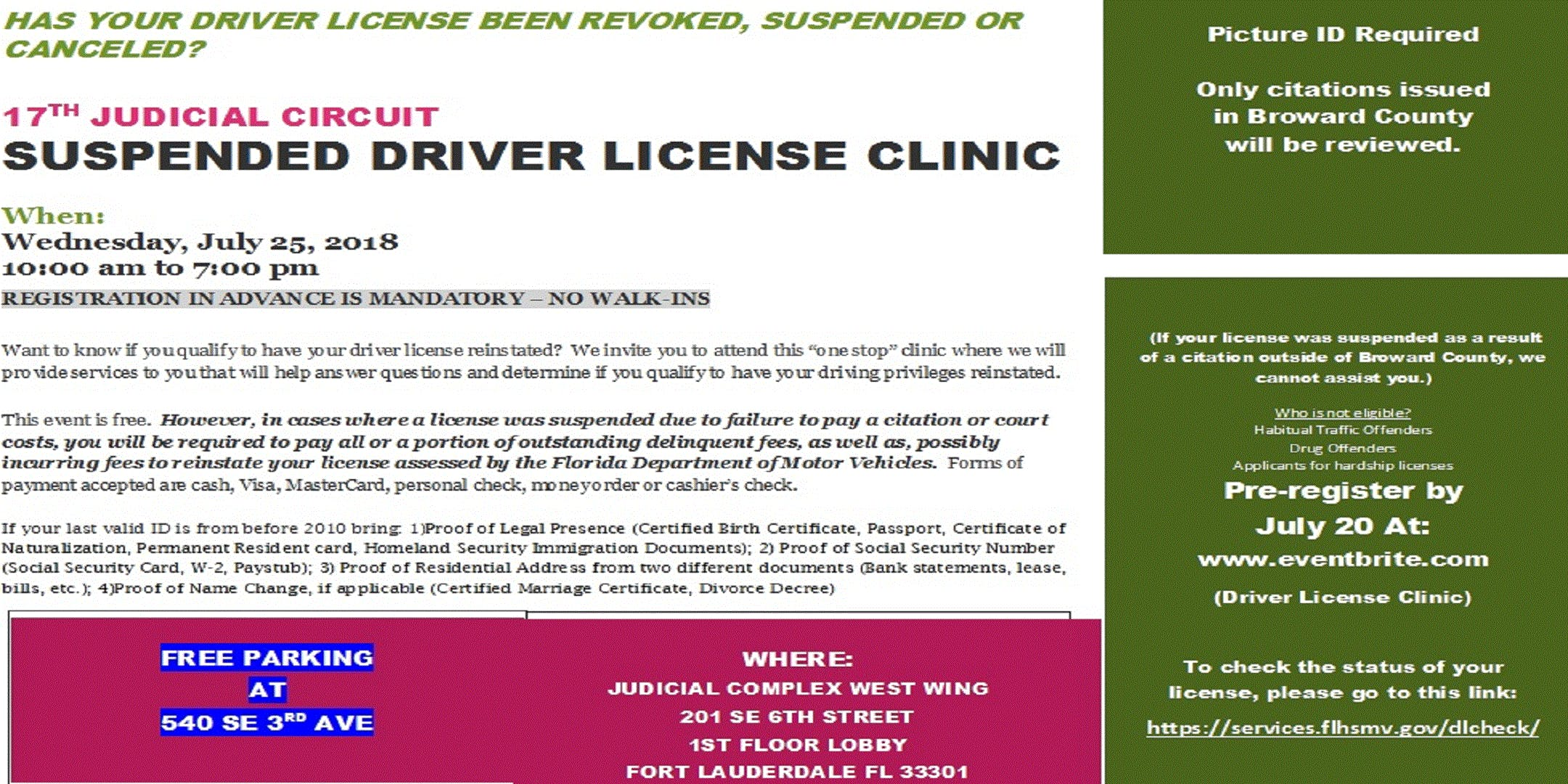 drivers license locations broward county