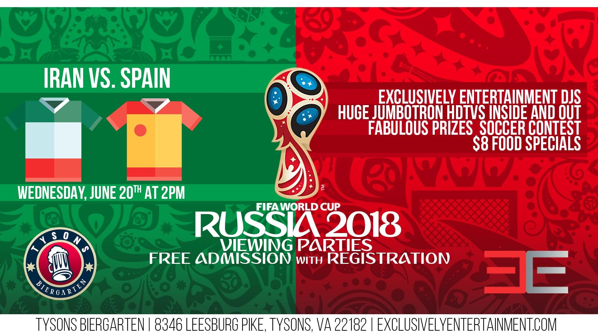 World Cup Viewing Party - Iran vs. Spain