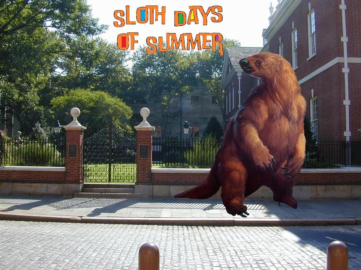 Giant Sloth Happy Hour - Sloth Days of Summer
