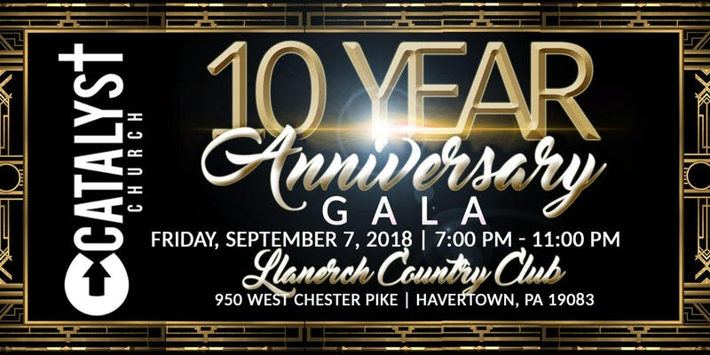 10 Year Anniversary Gala @ Llanerch Country Club
