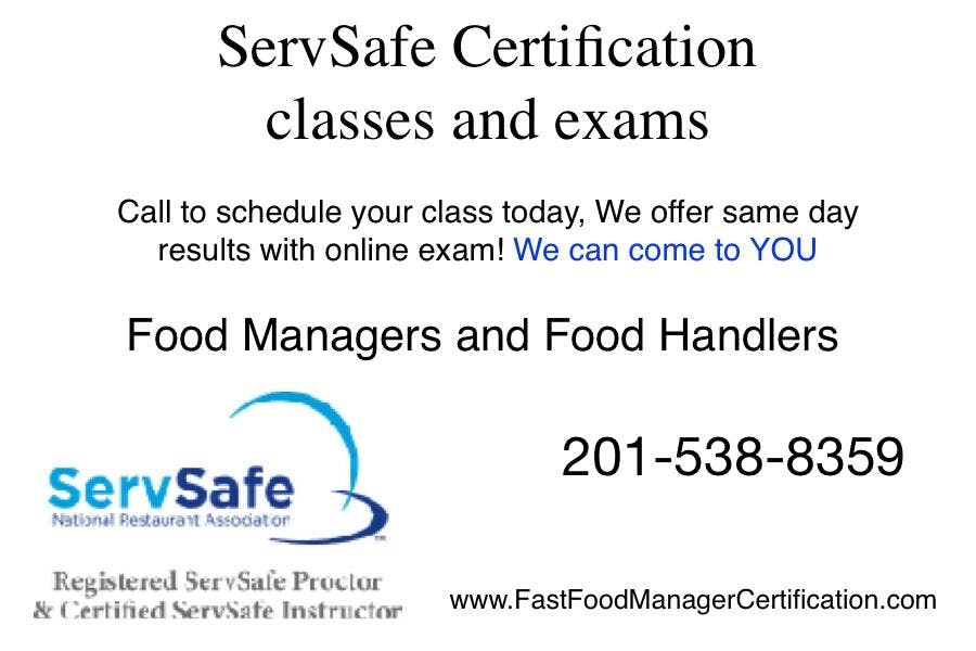 Servsafe Food Managers And Food Handler Class And Exam Bloomfield