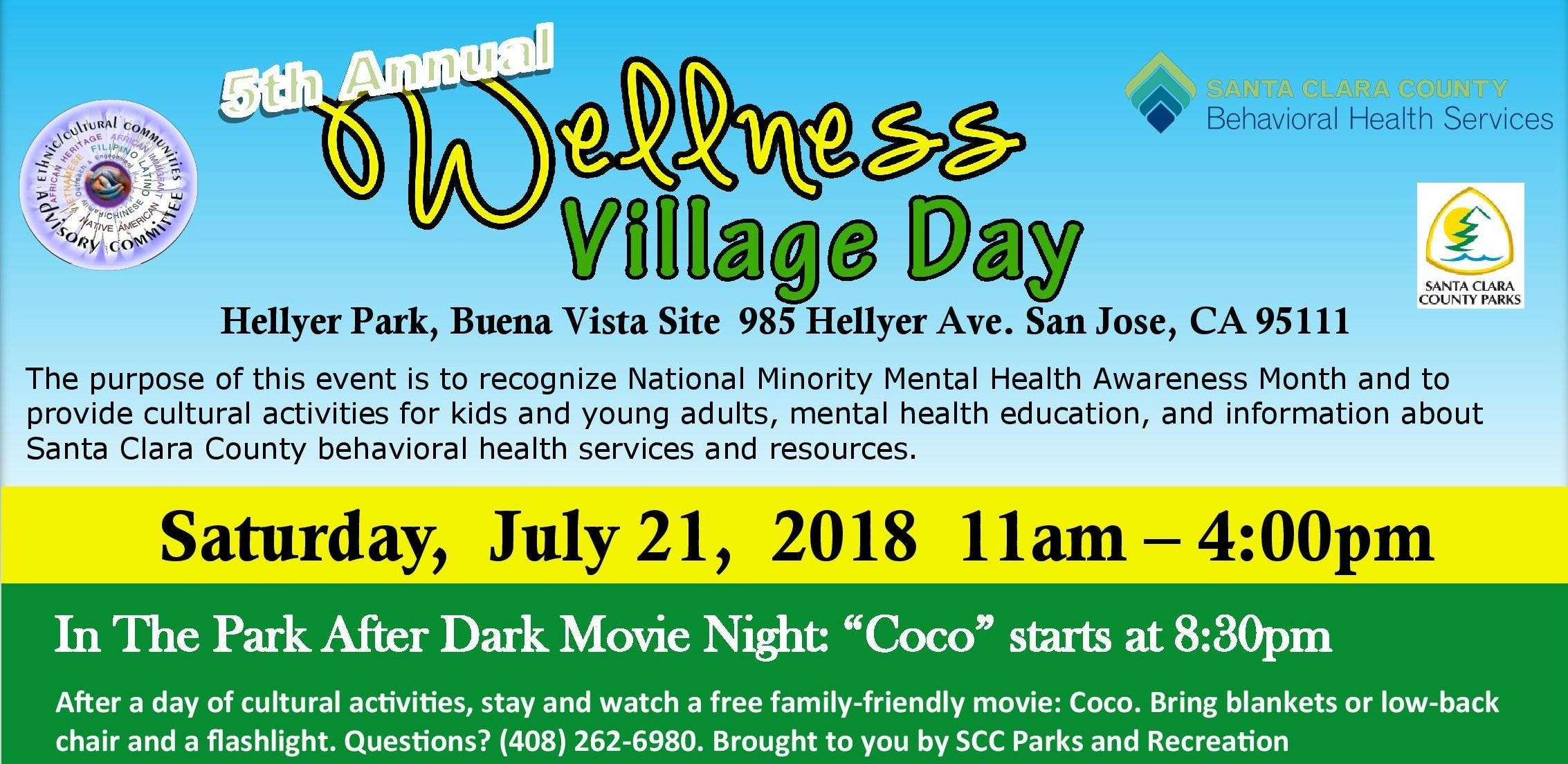 5th Annual Wellness Village Day At Hellyer Park Buena Vista Site