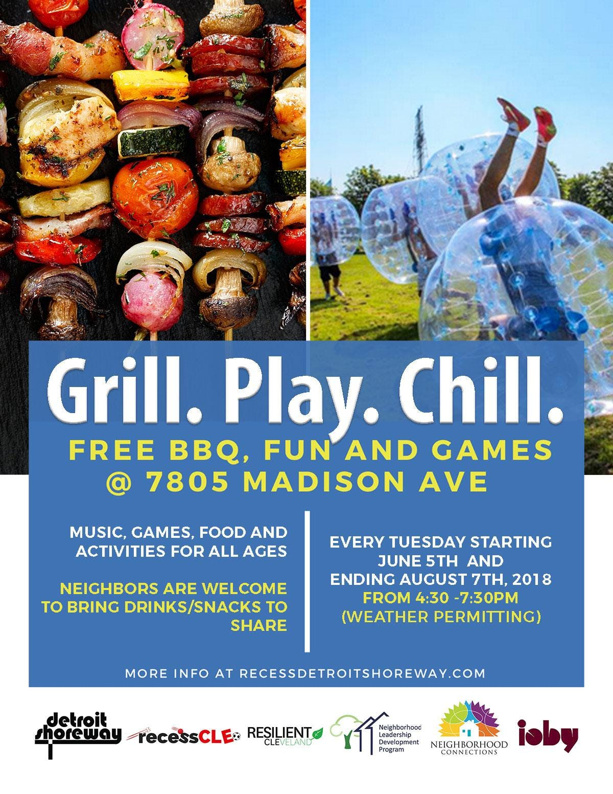Grill. Play. Chill. fFree BBQ Fun and Games