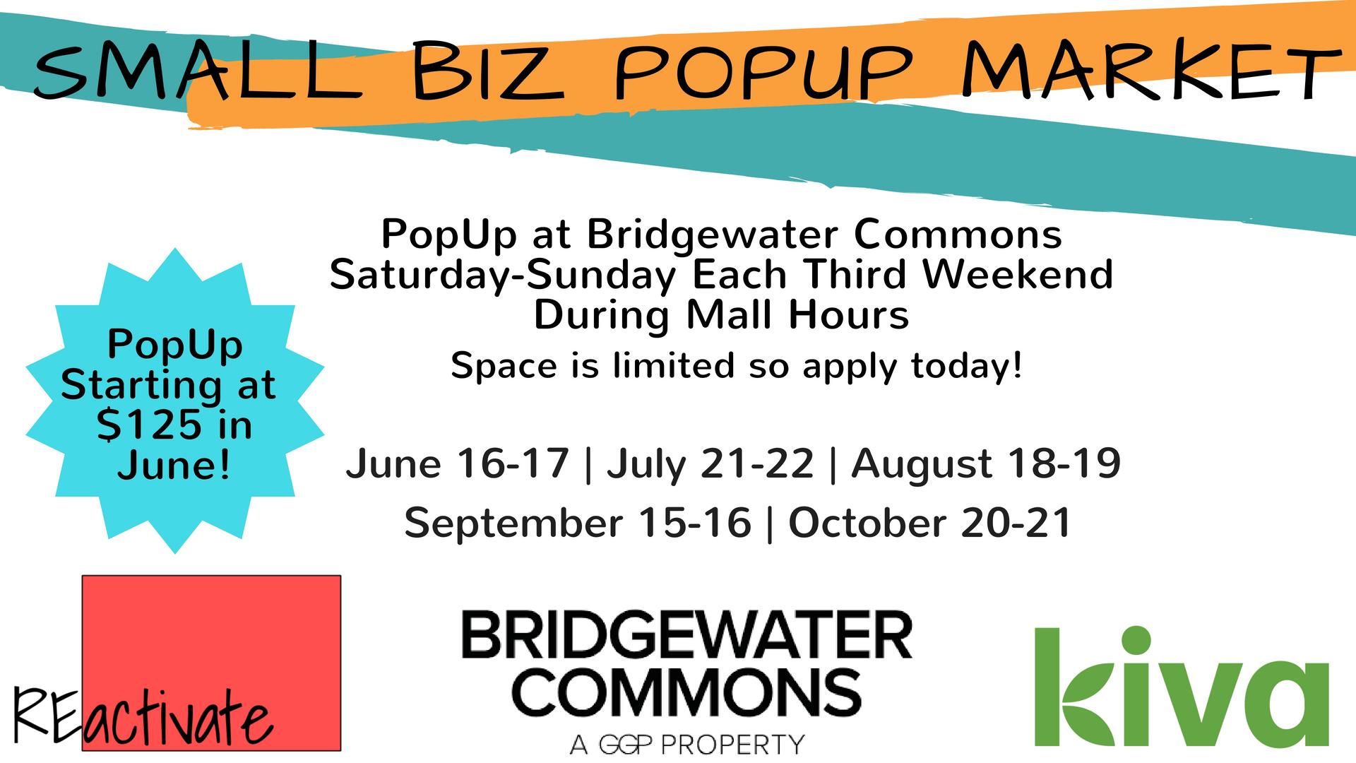 Vendor Opportunity! Small Biz PopUp Market @