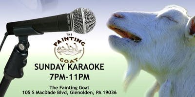 Sunday Karaoke at the Fainting Goat (Delaware County, PA)