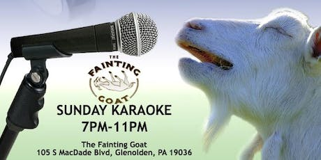 Sunday Karaoke at the Fainting Goat (Delaware County, PA) tickets