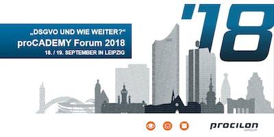 """""""DSGVO und wie weiter?"""" procilon proCADEMY Forum 2018"""