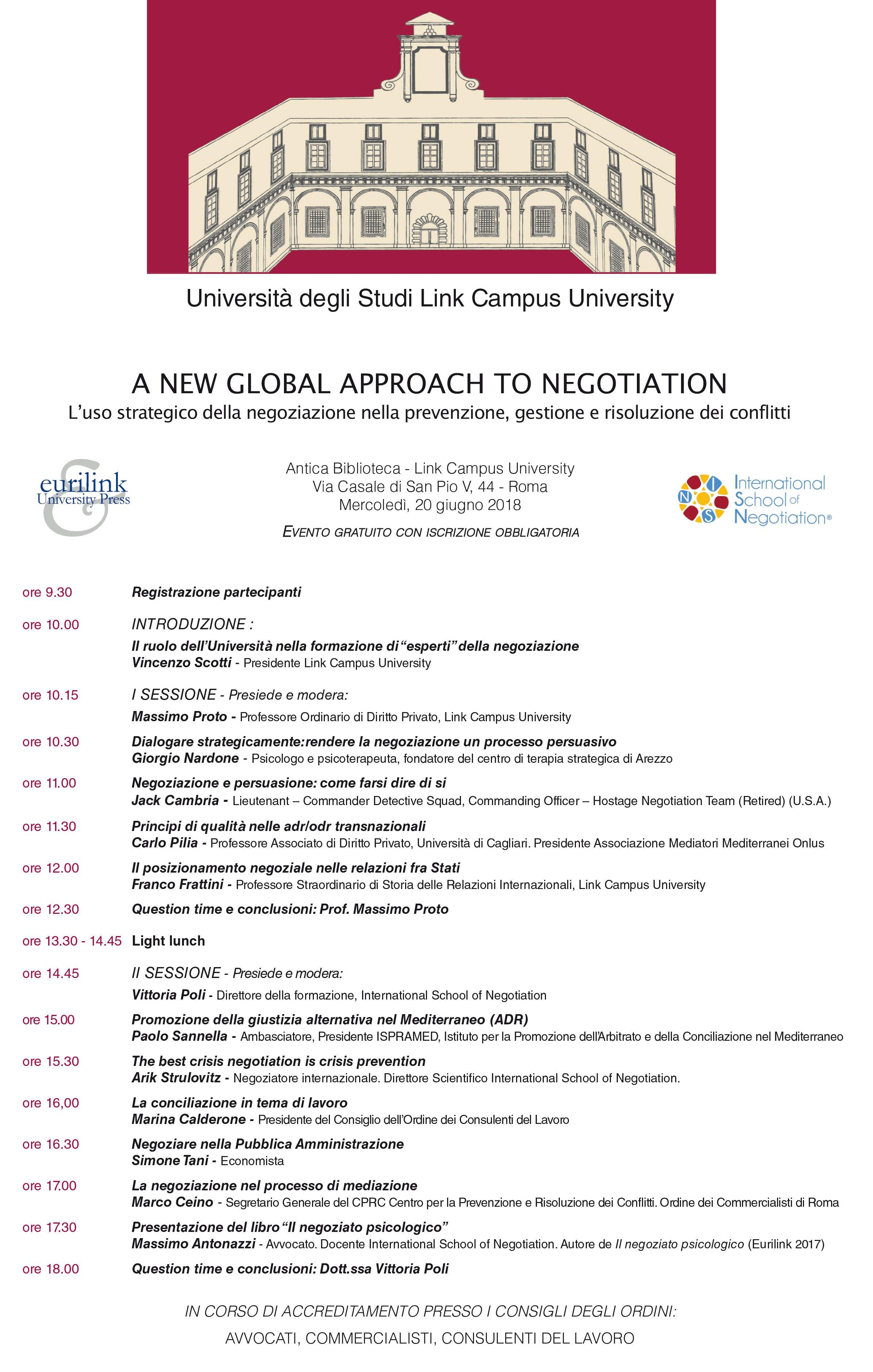 A news global approach to negotiation