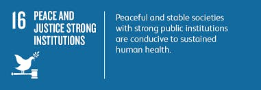 Peace Justice and Strong Institutions workshop