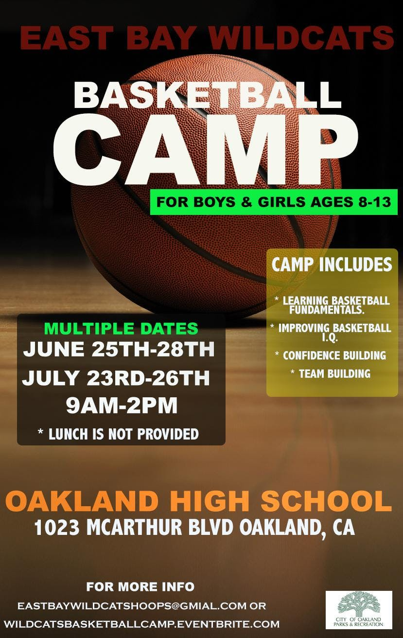 East Bay Wildcats Youth Basketball Camp (JUNE