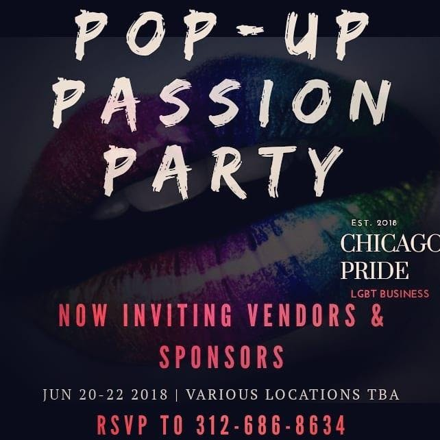 Pop Up Passion Party: Chicago Pride Sip & Sho