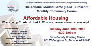 """TAGG Monthly Forum - """"Affordable Housing Where to go?..."""