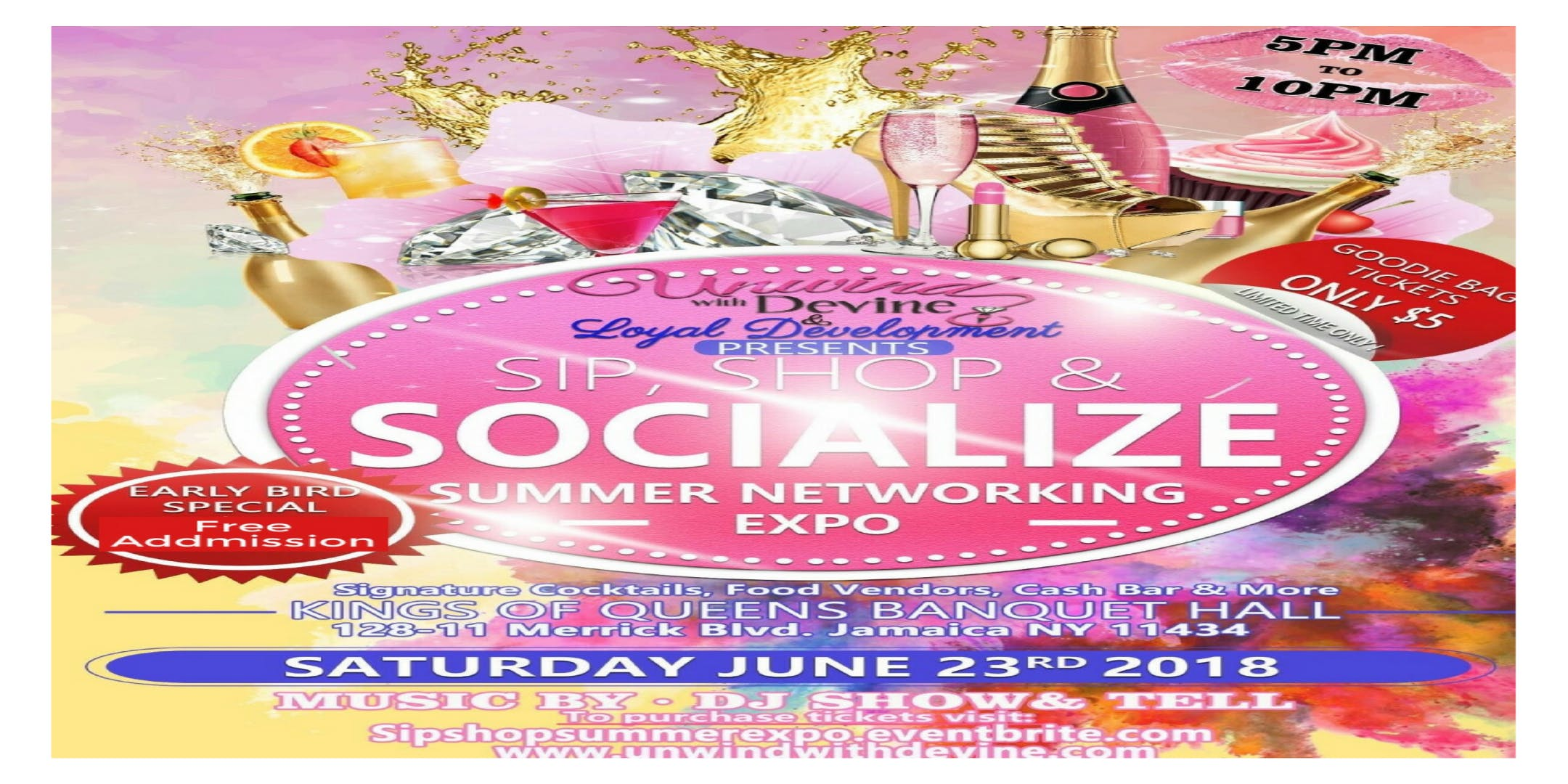 Sip, Shop, Socialize Summer Networking Expo