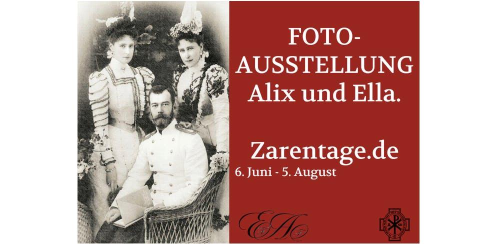 Fotoausstellung Zarentage 1918-2018. Alix und Ella