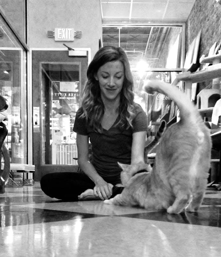 Be Still Kitty Yoga