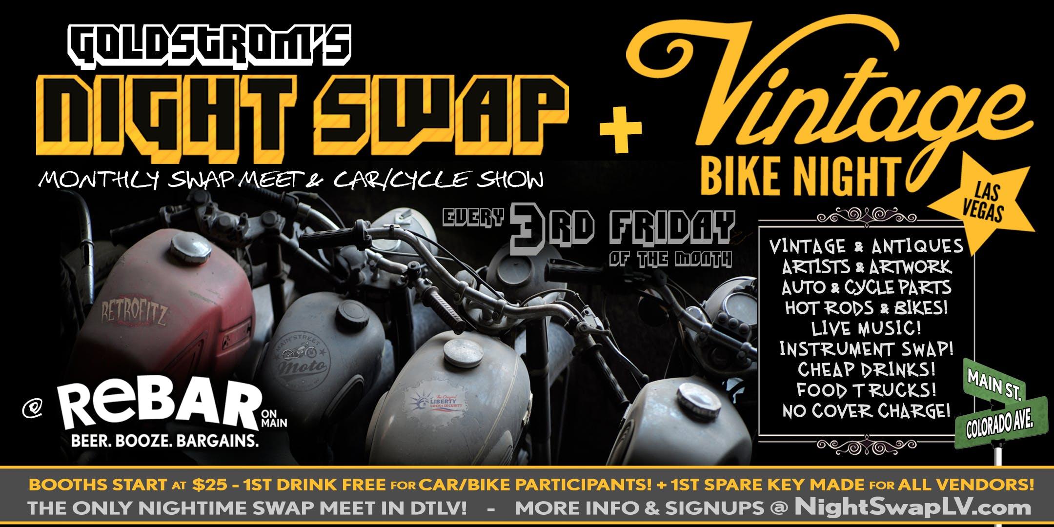 Goldstrom S Nightswap Vintage Bike Night 3rd Fridays