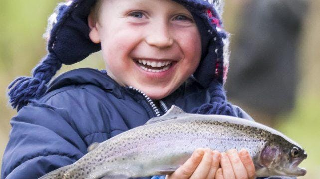 Family Fishing on World Fishing Day at Leigh Mill Fly Fishery