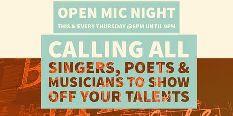 Open mic tickets multiple dates eventbrite free malvernweather Choice Image