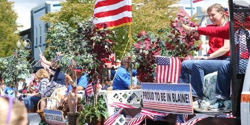 Register for the 2019 Blaine Old Fashioned 4th of July Parade