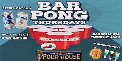 Pong It Up Thursdays $100 Prize