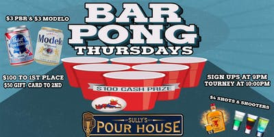 Pong It Up Thursdays $100 Prize