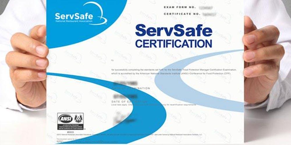 Servsafe Food Manager Class Certification Examination Saint