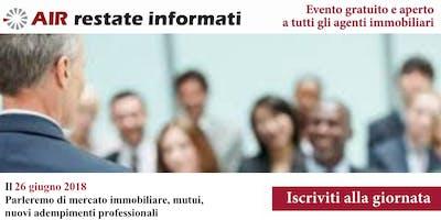 Agenti Immobiliari: troviamoci a Bari il 26 giugno 2018, parleremo di mercato immobiliare, mutui, nuovi adempimenti professionali