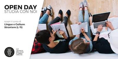 Open Day, scopri il corso di Lingue e Culture Straniere (L-11)