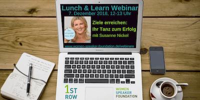 """Live-Webinar \""""Tanz zum Erfolg\"""" mit Susanne Nickel"""