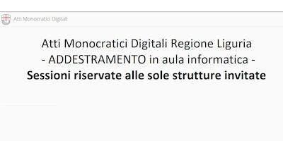 ADDESTRAMENTO Atti Monocratici Digitali - riservato alle strutture invitate