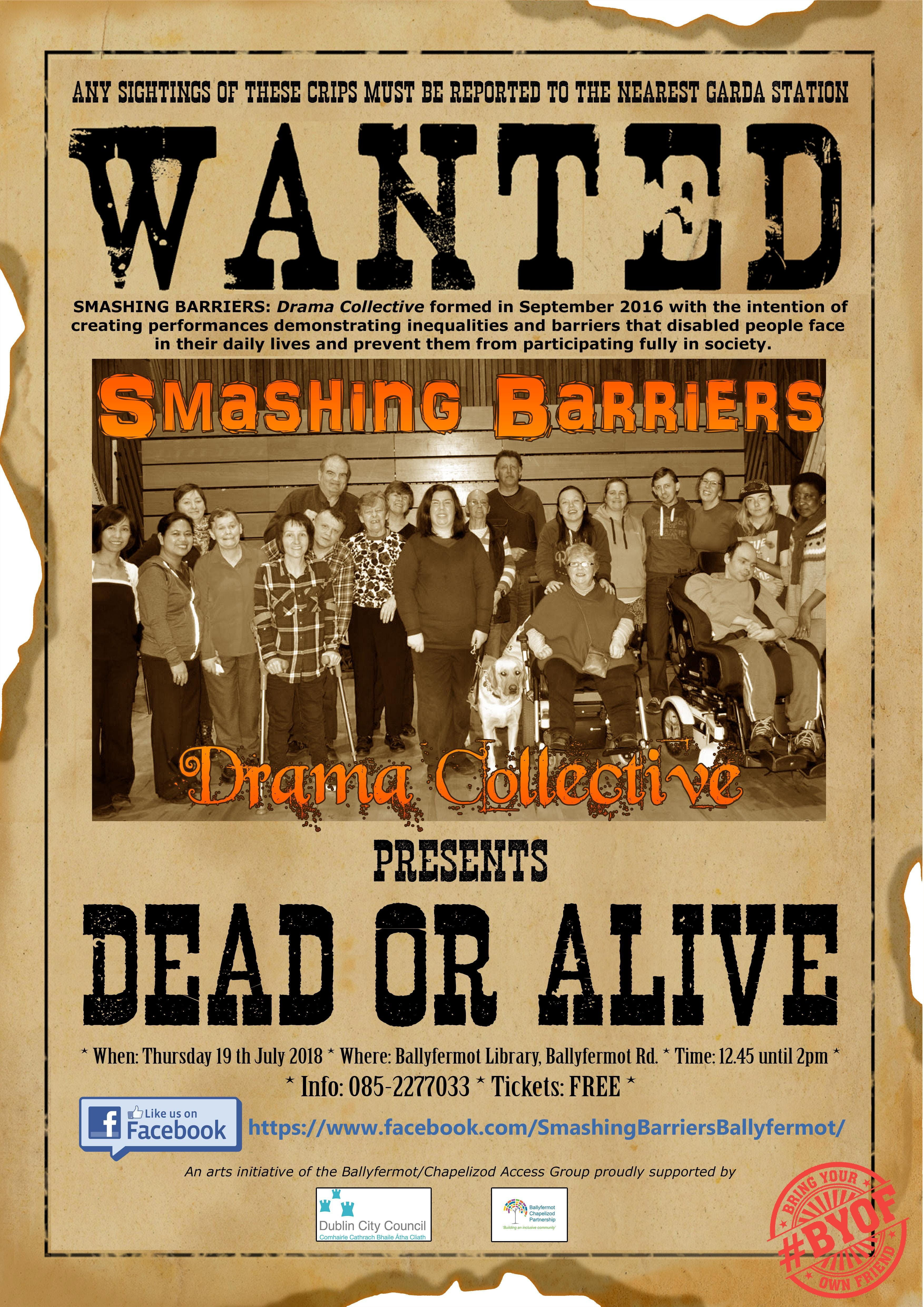 DEAD OR ALIVE presented by Smashing Barriers: Drama Collective