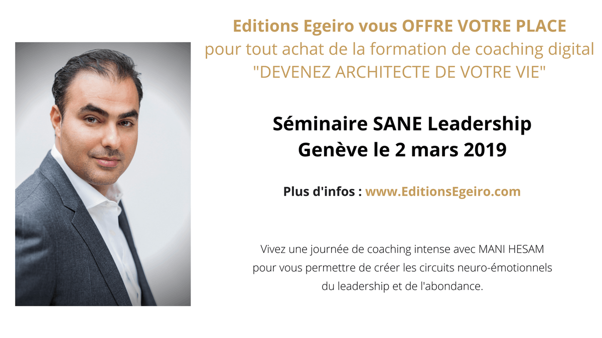 Séminaire Mani Hesam - SANE Leadership à Genève