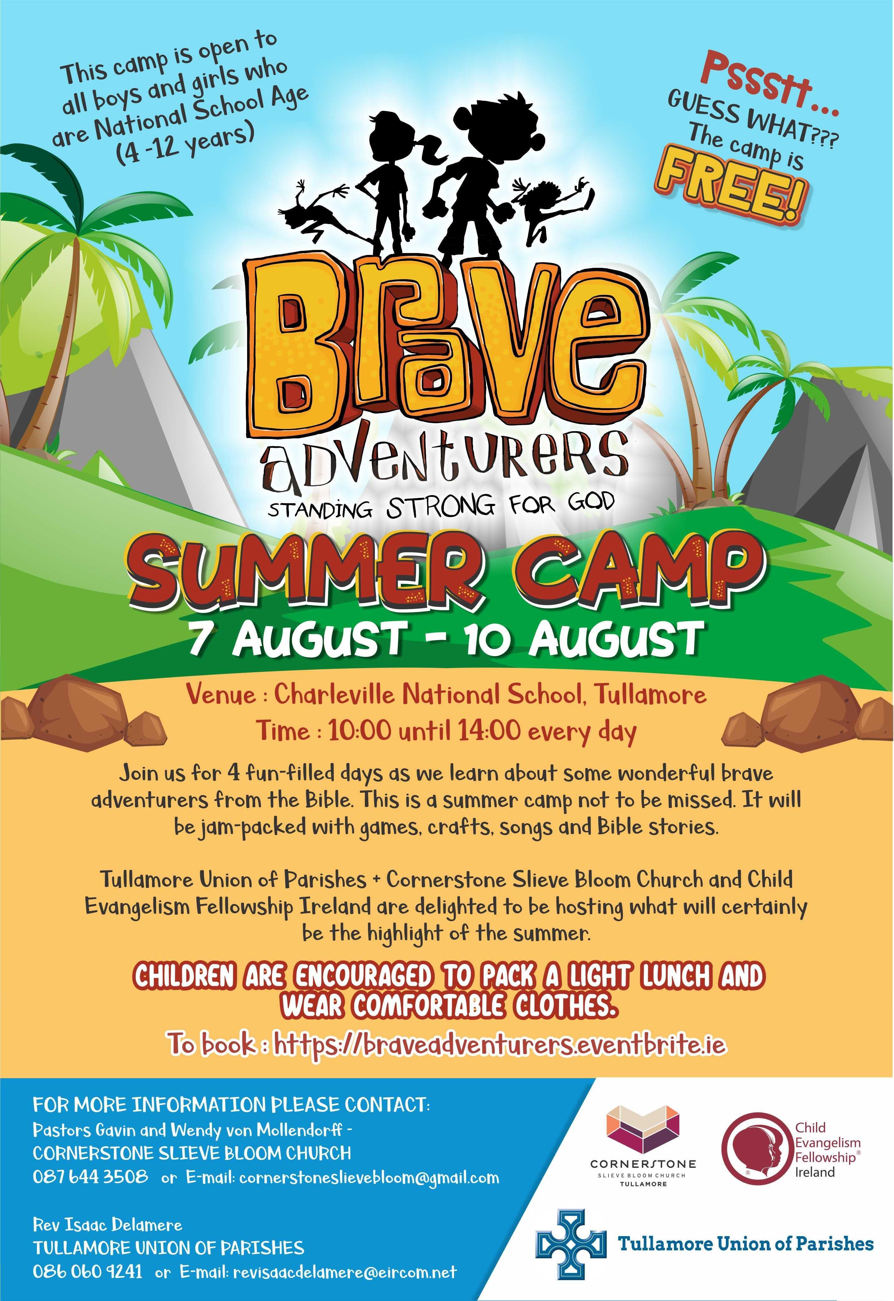 Brave Adventurers Children's Bible Summer Camp