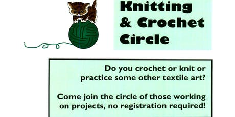 Cicero Library Knitting & Crochet Circle tickets