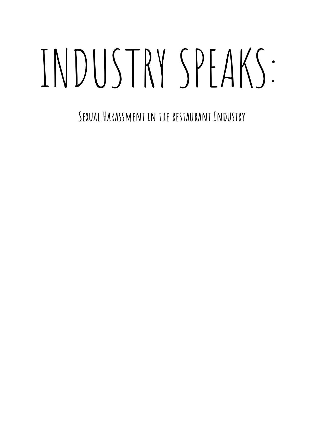 Copy of Industry Speaks: Sexual Harassment in