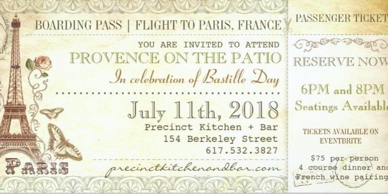 Precinct Back Bay Provence on the Patio Bastille Day