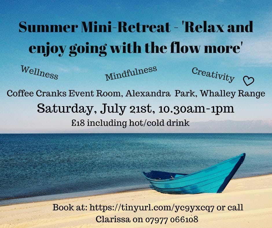 Relax and enjoy going with the flow more