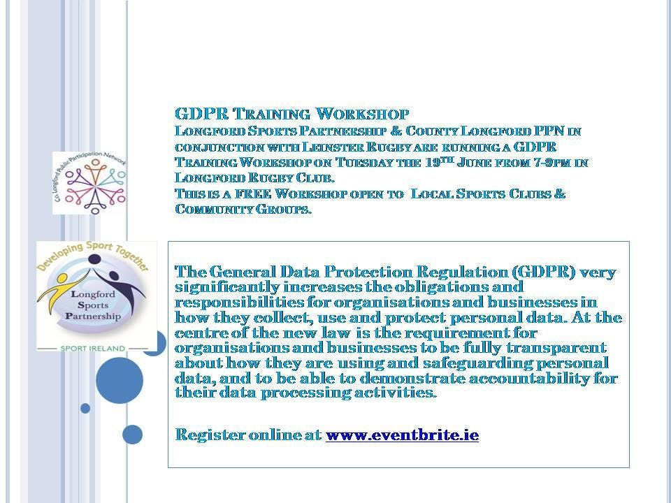 GDPR Training for Longford Sports & Community Groups