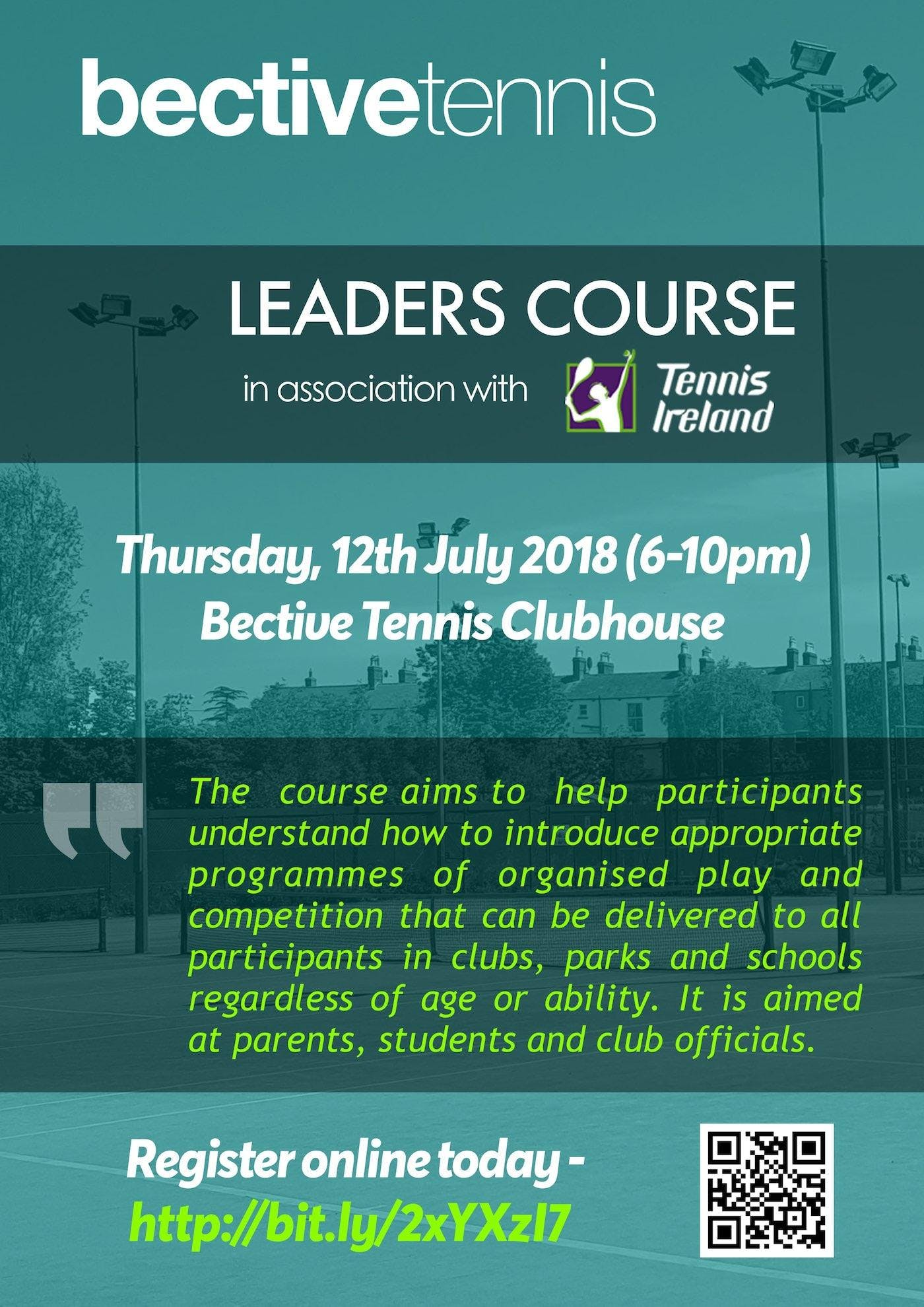 Tennis Leaders Course Dublin