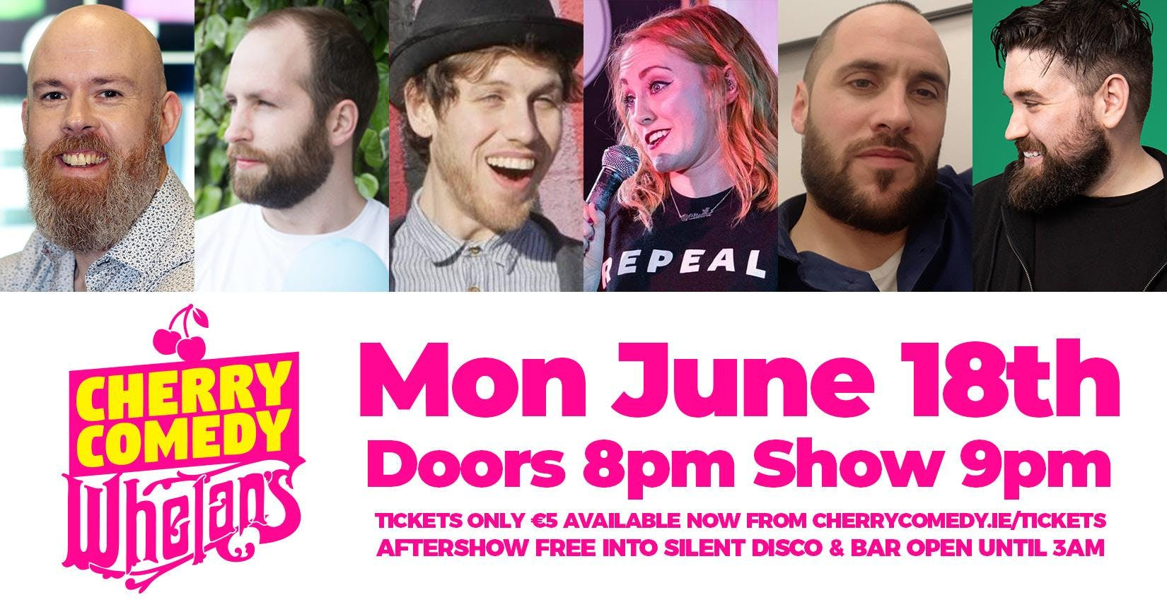 Cherry Comedy at Whelan's with Edwin Sammon